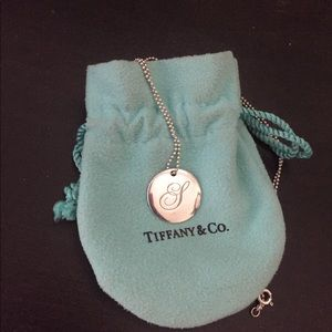 Tiffany & Co Silver Pendant Initial Necklace